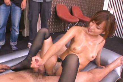 Kokone mizutani. Kokone Mizutani Asian with oiled tits strokes shlong with public