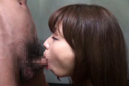 Miyuki yokoyama. Libidinous Miyuki Yokoyama tastes my dick with real delight