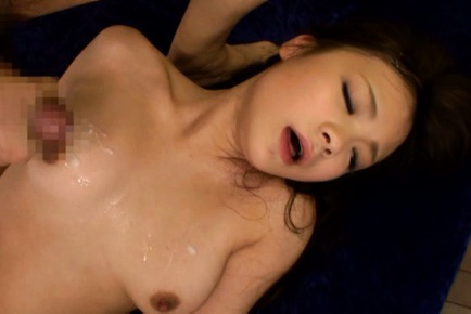 Kana tsuruta. Horny Kana Tsuruta got cumshot on her natural tits in MMF threesome