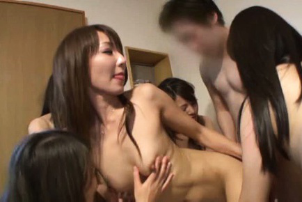 Japanese av model. Japanese AV Model and friends kissing and