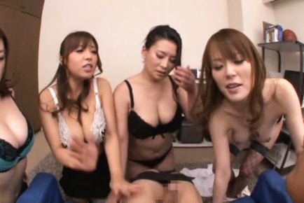 Japanese av model. Busty AV models have hot tits and pussies for awesome action