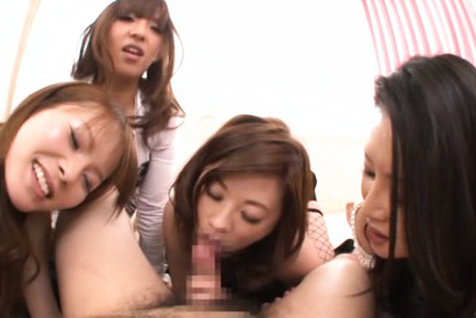 Japanese av model. Excited AV models cock sucking dick and have