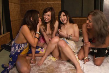 Japanese av model. Japanese AV Model and babes have hairy cunts fingered and fuck