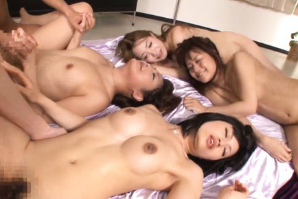 Japanese av model. Naughty AV Models invited boys to get orgasms