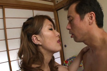 Ren aizawa. Hot Ren Aizawa sucks cock and gets fuck really violent
