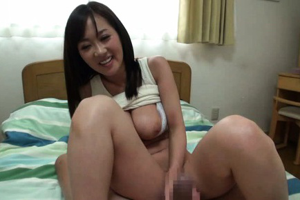 Rei aimi. Rei Aimi Asian with large assets out of bra gets boner