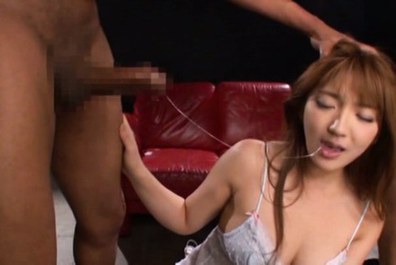 Shiori kamisaki. Shiori Kamisaki with libidinous legs has ears bitten and blowjob boners