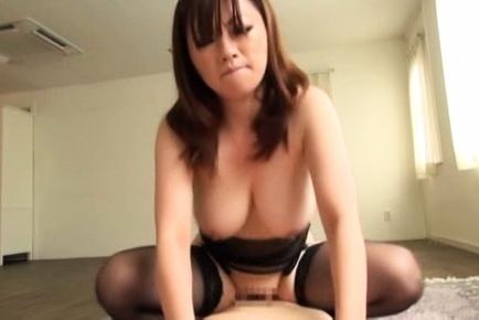 Miyuki matsushita. Miyuki Matsushita Asian in stockings rubs
