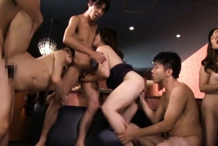 Japanese av model. Japanese AV Model and babes are fingered and have sexual intercourse from behind