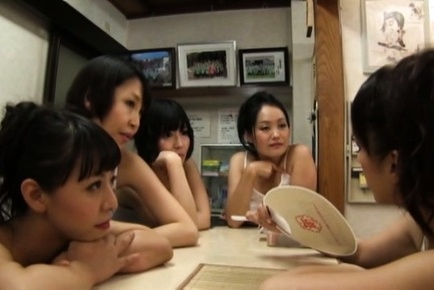 Japanese av model. Japanese AV Model and babes blowjob fellows shlongs like in contest