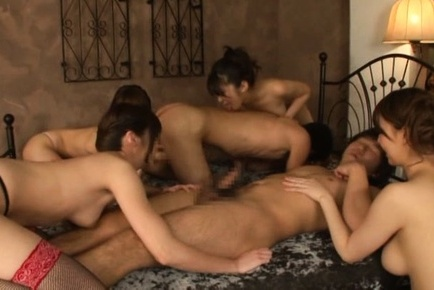 Yuuka tachibana. Yuuka Tachibana and gals lick dicks and have jugs sucked in orgy